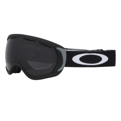 Oakley Canopy Snowsport Goggles in Matte Black/Dark Grey