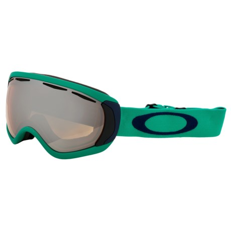 Oakley Canopy Snowsport Goggles - Iridium Lens in Mint Leaf/Black Iridium