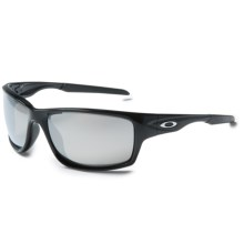 Oakley Canteen Sunglasses - Polarized Iridium® Lenses in Polished Black/Chrome Iridium - Closeouts