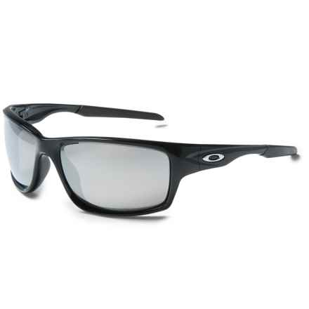Oakley Canteen Sunglasses - Polarized Iridium® Lenses in Polished Black/Chrome Iridium - Closeouts