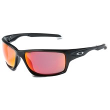 Oakley Canteen Sunglasses - PRIZM® Baseball Lenses in Polished Black/Prizm Baseball Outfield - Closeouts