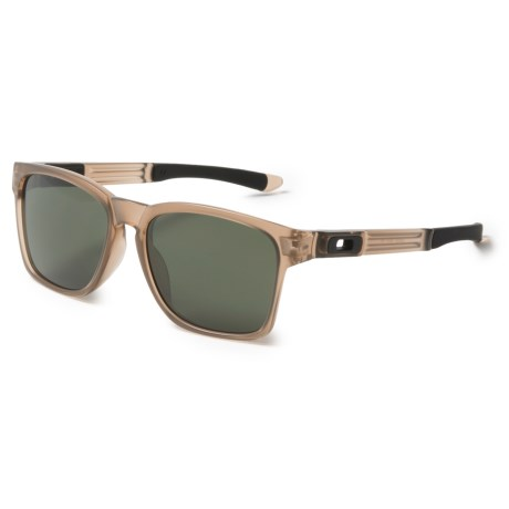 Oakley Catalyst Sunglasses - Plutonite® Lenses in Matte Sepia/Dark Grey