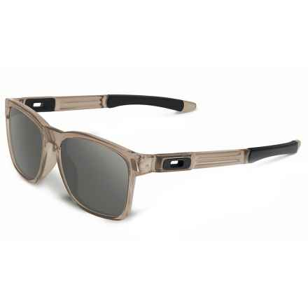 Oakley Catalyst Sunglasses - Polarized (For Men and Women) in Matte Sepia/Dark Grey - Closeouts