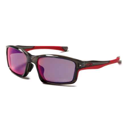 Oakley Chainlink Sunglasses - Polarized, Asia Fit in Grey Smoke/Oo Red Iridium - Closeouts