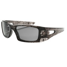 Oakley Crankcase Sunglasses - Polarized in Grey Smoke/Grey - Closeouts