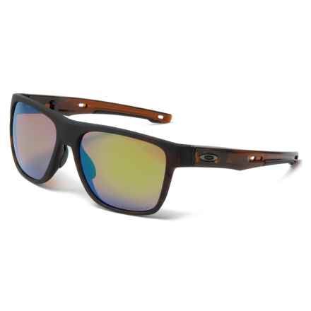 Oakley Crossrange XL Prizm® Sunglasses - Polarized (For Men) in Matte Rootbeer Tortoise/Prizm Shallow H2o - Closeouts