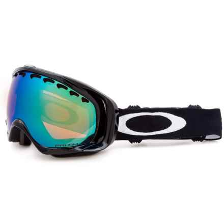 Oakley Crowbar Prizm Ski Goggles - Iridium® Lens in Jet Black/Jade - Closeouts