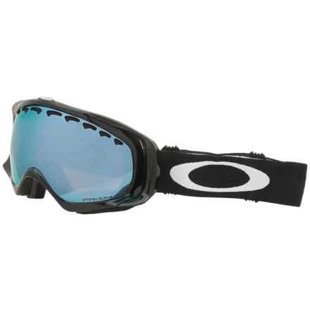 Oakley Crowbar Prizm Ski Goggles - Iridium® Lens in Jet Black/Sapphire - Closeouts