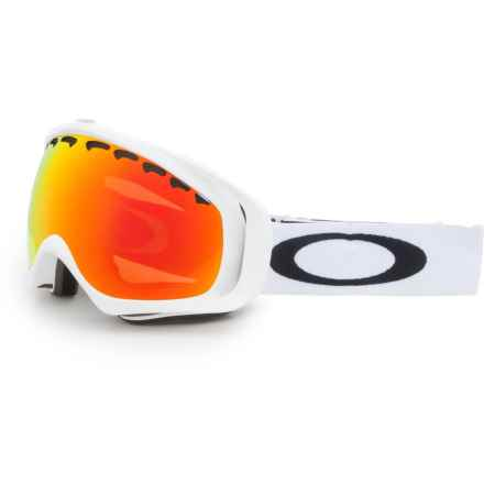 Oakley Crowbar Prizm Ski Goggles - Iridium® Lens in Matte White/Fire - Closeouts