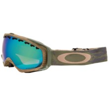 Oakley Crowbar Prizm Ski Goggles - Iridium® Lens in Sheridan Khaki Olive/Jade Prizm - Closeouts