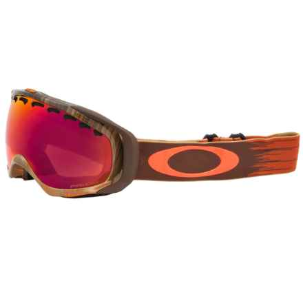Oakley Crowbar Prizm Ski Goggles - Iridium® Lens in Wet Dry Neon Rhone/Torch Prizm - Closeouts