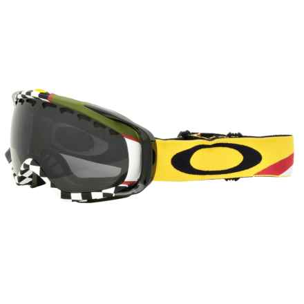 Oakley Crowbar Ski Goggles - Asia Fit in Flight Series Thunderbolt/Dark Grey - Closeouts