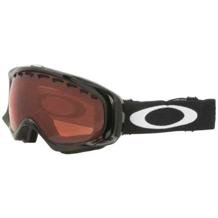Oakley Crowbar Ski Goggles - Spherical Flash Lens in Jet Black/Rose - Closeouts