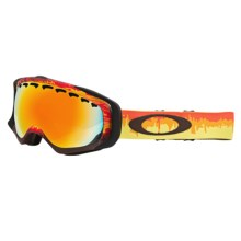 Oakley Crowbar Snow Snowsport Goggles in Shockwave Fire/Fire Iridium - Closeouts