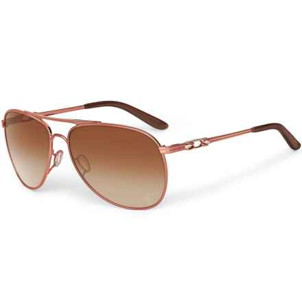 Oakley Daisy Chain Katrina Sunglasses (For Women) in Grapefruit Pearl/Dark Brown Gradient - Closeouts