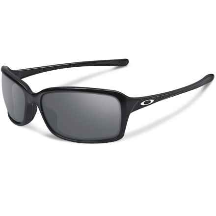 Oakley Dispute Sunglasses - Iridium® Lenses (For Women) in Polished Black/Black Iridium - Closeouts