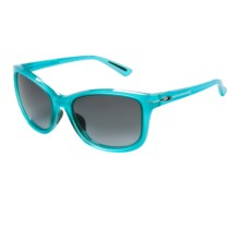 Oakley Drop In Sunglasses (For Women) in Frosted Illumination Blue/Black Grey Gradient - Closeouts