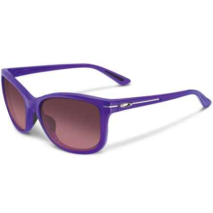 Oakley Drop In Sunglasses (For Women) in Frosted Royal Purple/G40 Black Gradient - Closeouts