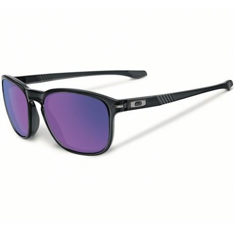 Oakley Enduro Sunglasses - Iridium® Lenses, Asia Fit in Black Ink/Violet Iridium