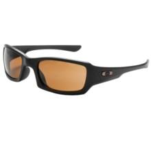 Oakley Fives Squared Sunglasses - Asian Fit in Matte Black/Bronze - Closeouts