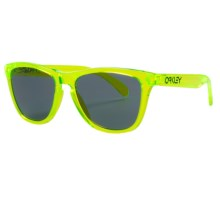 Oakley Frogskin Sunglasses in Acid Green/Grey - Closeouts