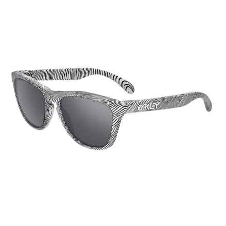 Oakley Frogskins Collection Sunglasses - Iridium® Lenses in Fingerprint White/Black Iridium - Closeouts