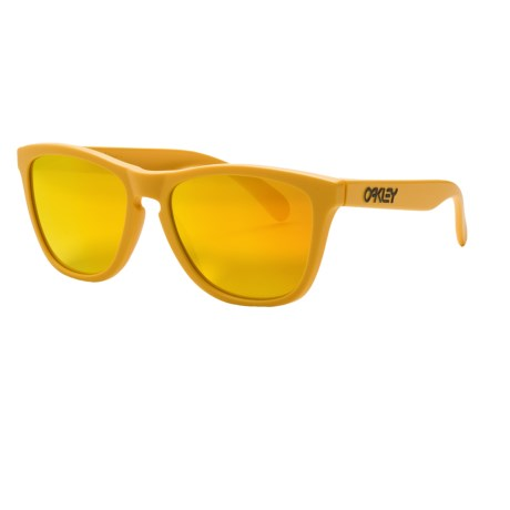 Oakley Frogskins Sunglasses - Iridium® Lenses in Gold/Fire Iridium