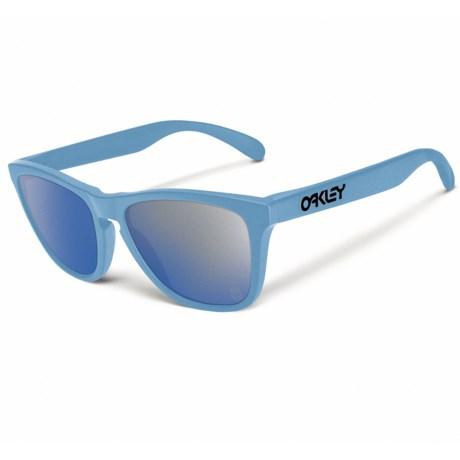 Oakley Frogskins Sunglasses - Iridium® Lenses in Polished Blue/Ice Iridium