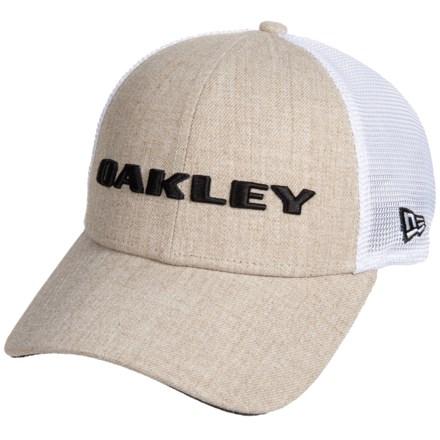b90f1b80 Oakley Heather New Era Trucker Hat (For Men) in Rye - Closeouts
