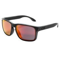Oakley Holbrook Sunglasses - Iridium® Lenses, Asia Fit in Black Decay/Ruby Iridium - Closeouts