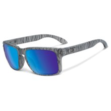 Oakley Holbrook Sunglasses - Iridium® Lenses in Urban Jungle Matte Grey Ink/Sapphire Iridium - Closeouts