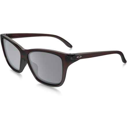 Oakley Hold On Sunglasses - Iridium® Lenses (For Women) in Frosted Rhone/Black Iridium - Closeouts
