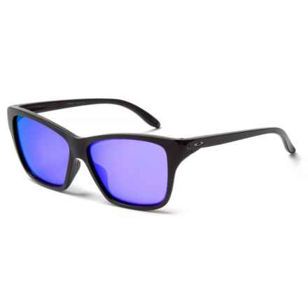 Oakley Hold On Sunglasses - Iridium® Lenses (For Women) in Matte Black/Violet Iridium - Closeouts
