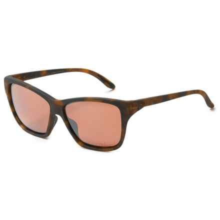 Oakley Hold On Sunglasses - Polarized Iridium® Lenses (For Women) in Matte Tortoise/Vr28 Black Iridium - Overstock