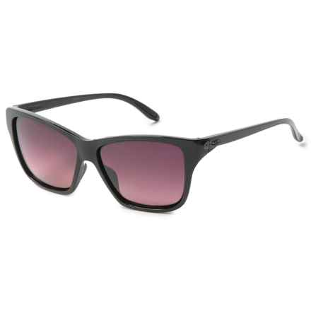 Oakley Hold On Sunglasses - Polarized Iridium® Lenses (For Women) in Polished Black/Rose Gradient - Overstock