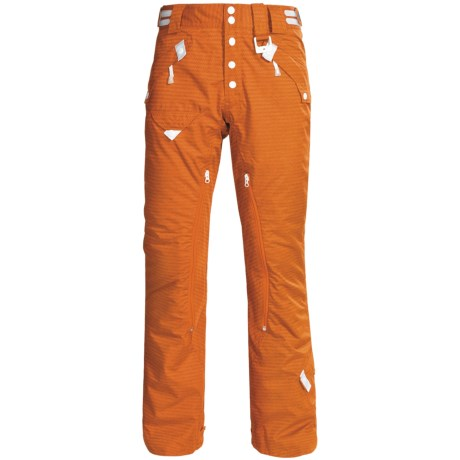 Oakley Landic Ski Pants - Waterproof, Insulated (For Men) in Enamel Orange