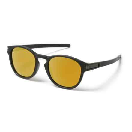 Oakley Latch Sunglasses - Plutonite® Lenses, Asia Fit in Matte Black - Closeouts