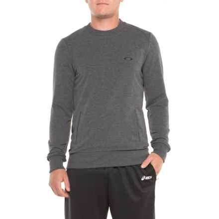 Oakley Link Crew Fleece Pullover Shirt - Long Sleeve (For Men) in Athletic Heather Grey - Closeouts
