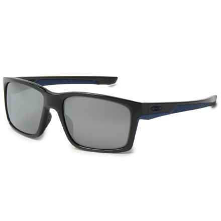 Oakley Mainlink Sunglasses - Iridium® Lenses in Polished Black/Navy/Black Iridium - Overstock