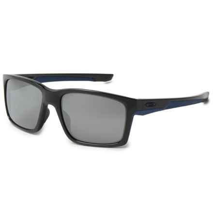 Oakley Mainlink Sunglasses - Iridium® Lenses in Polished Black/Navy/Black Iridium - Overstock