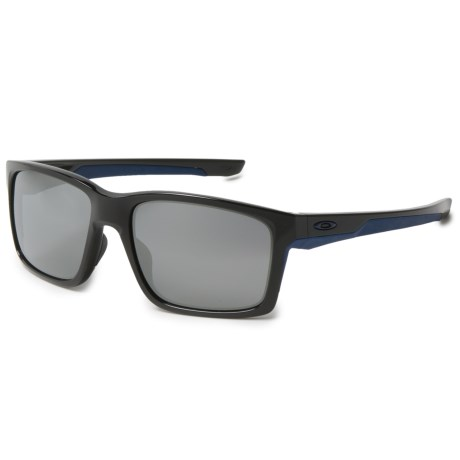 Oakley Mainlink Sunglasses - Iridium® Lenses in Polished Black/Navy/Black Iridium