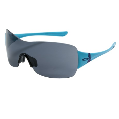 Oakley Miss Conduct Squared Sunglasses (For Women) in Illumination Blue/Grey