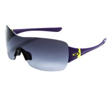 Oakley Miss Conduct Squared Sunglasses (For Women) in Royalty Purple/Black Grey Gradient - Closeouts