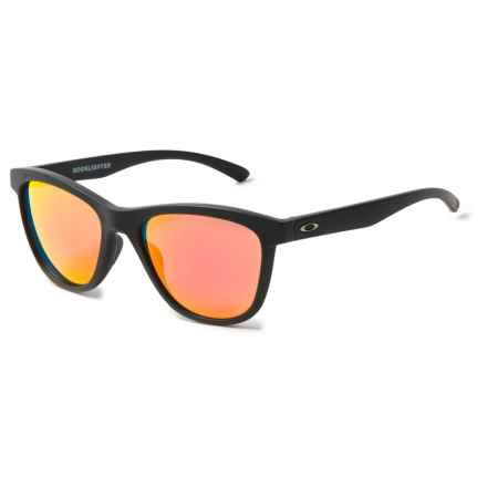 Oakley Moonlighter Sunglasses - Polarized, Iridium® Lenses (For Women) in Matte Black/Ruby Iridium - Overstock