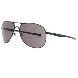 Oakley Moto GP Plaintiff Sunglasses in Matte Black/Blue/Warm Grey