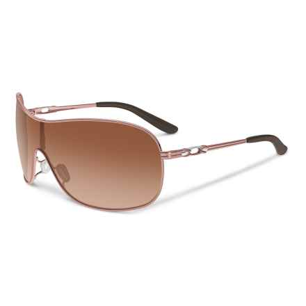 Oakley MPH Collected Sunglasses (For Women) in Rose Gold/Vr50 Brown Gradient - Closeouts