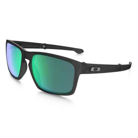 Oakley MPH Sliver Foldable Sunglasses - Iridium® Lenses in Matte Black Ink/Jade Iridium - Closeouts