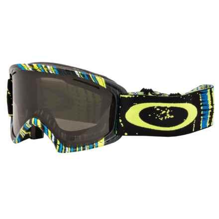 Oakley O2 XL Ski Goggles in Stumped Lime/Dark Grey - Closeouts