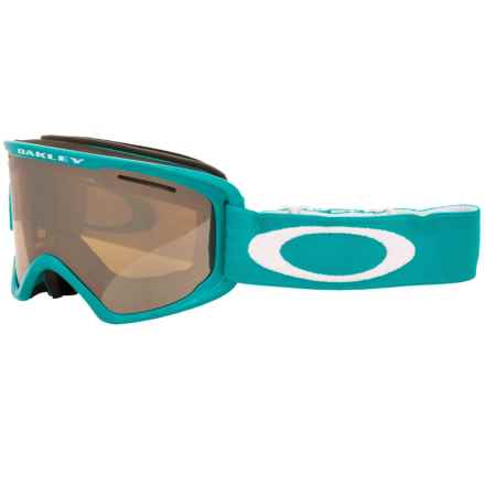 Oakley O2 XM Ski Goggles in Peacock White/Black Iridium - Closeouts