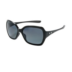 Oakley Overtime Sunglasses - Polarized (For Women) in Polished Black/Grey Gradient